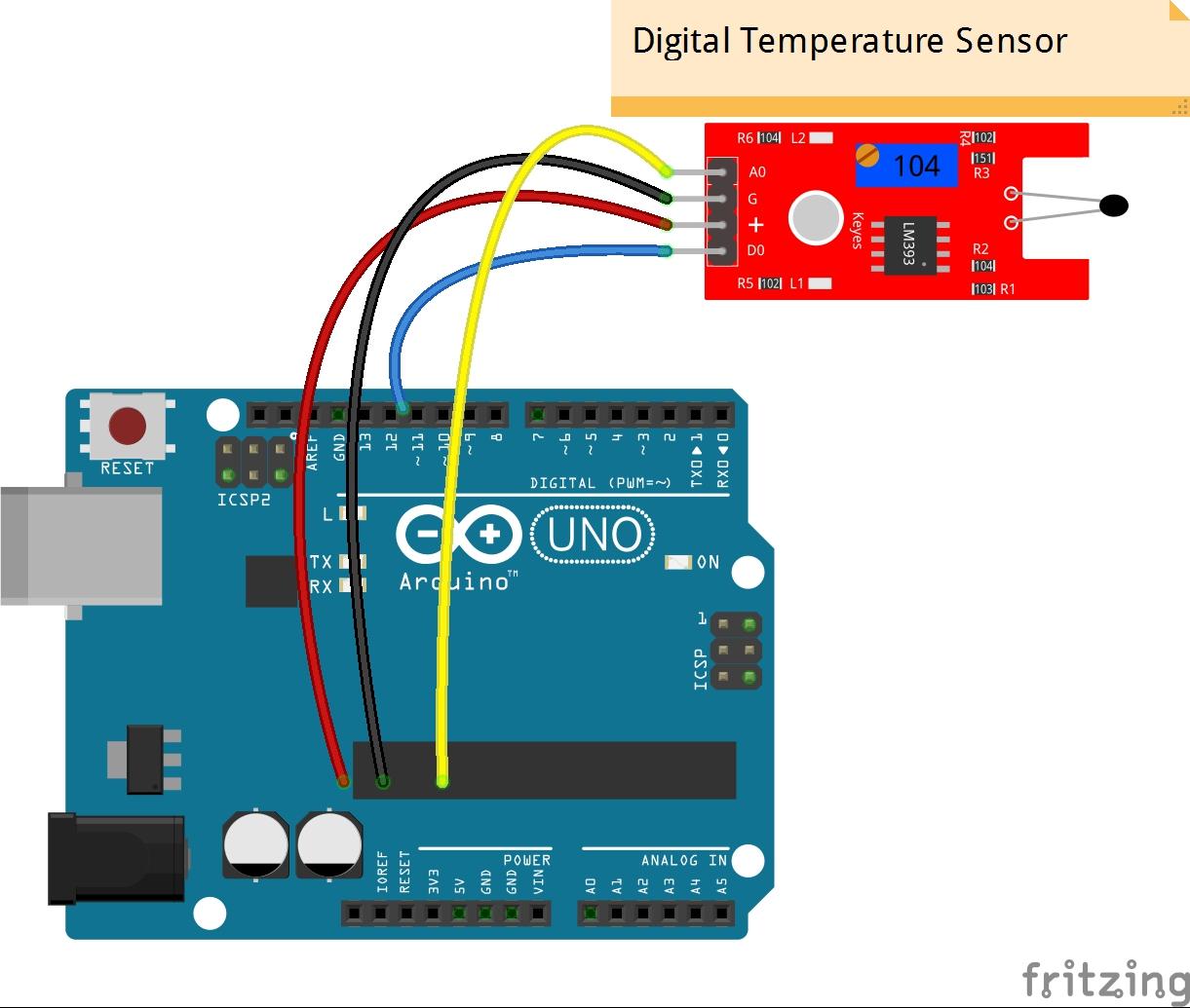 Sunfounder_Digi_Temp_Sens_Steckplatine